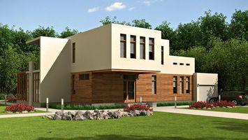 Бесплатные фото дом,коттедж,окна,газон,трава,двор,камни