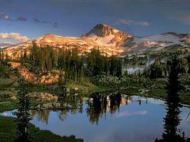 Бесплатные фото горы, снег, деревья, камни, озеро, отражение, природа