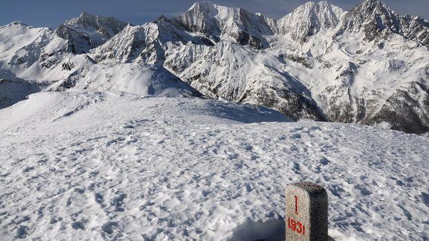 Photo free mountains, snow, column