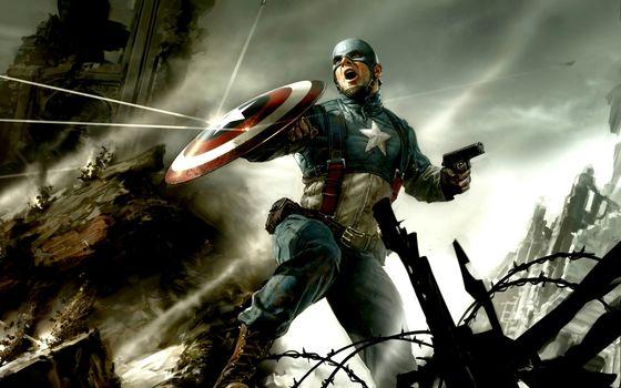 Фото бесплатно звезда, капитан, щит