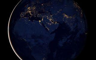 Фото бесплатно планета, земля, ночь