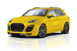 Обои porsche, жёлтый, вид, машины