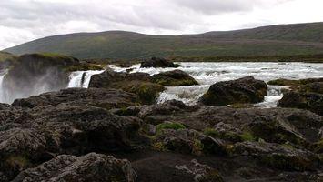 Бесплатные фото река,вода,камни,брызги,холмы,туман,природа