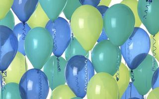 Фото бесплатно серпантин, шарики, разное