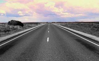 Фото бесплатно шоссе, трава, облака