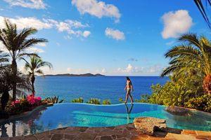 Фото бесплатно море, девушка, тропики