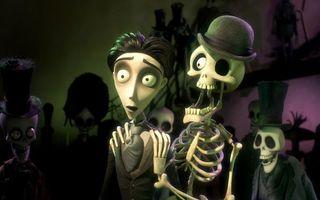Фото бесплатно труп, невесты, скелет, шляпа, череп, глаз, мультфильмы