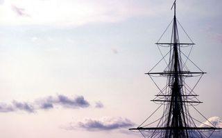 Бесплатные фото веревки,корабль,море,облака,флаг,тучи,разное