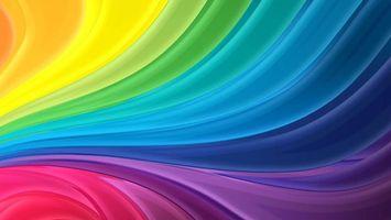 Заставки волны, линии, цвета, радуги, палитра, абстракции