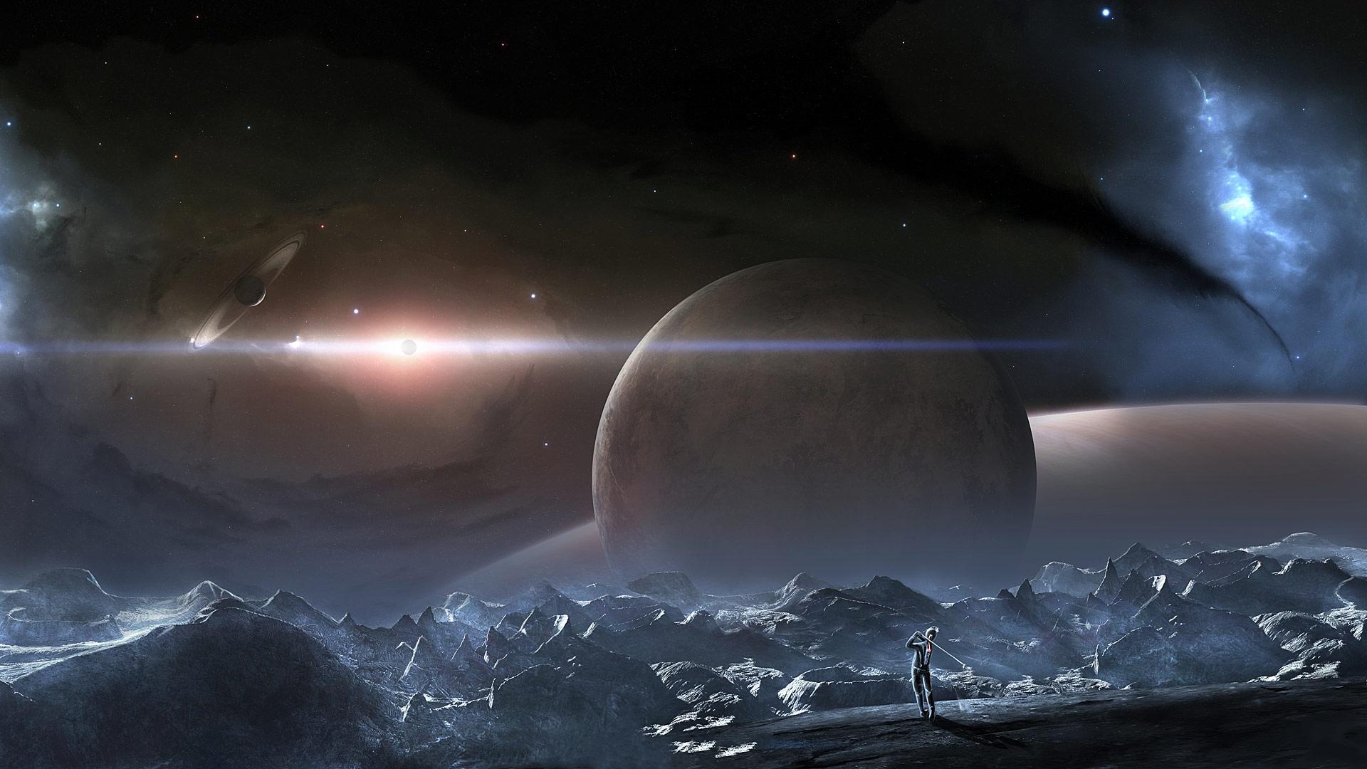 Обои космос, вселенная, планеты, звезлы