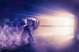 Фото бесплатно свет в тоннели, свет, девушка