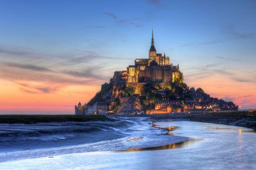 Wallpaper france, mont saint-michel on the desktop high quality