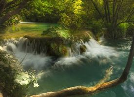 Заставки Plitvice Lakes National Park, Croatia, водопад