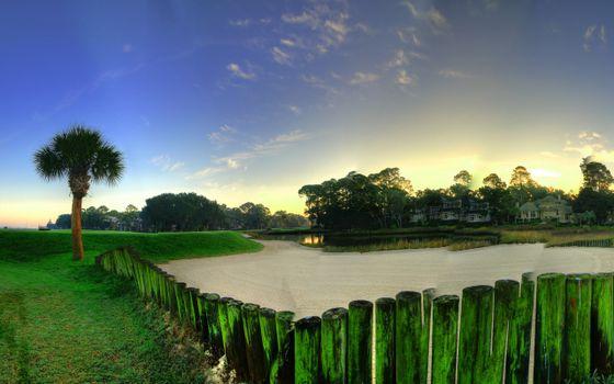 Фото бесплатно забор, дерево, дома