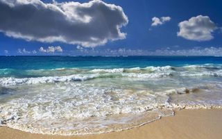 Фото бесплатно небо, облака, волны