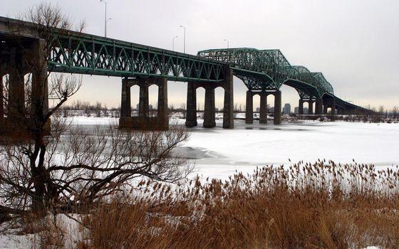 Photo free bridge, construction, metal