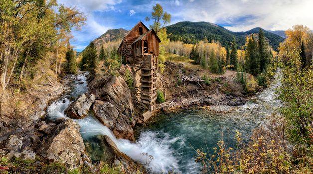 Photo free Crystal Mill, Colorado, autumn