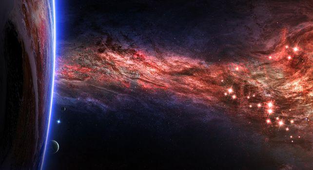 Фото бесплатно галактика, искусство, невесомость
