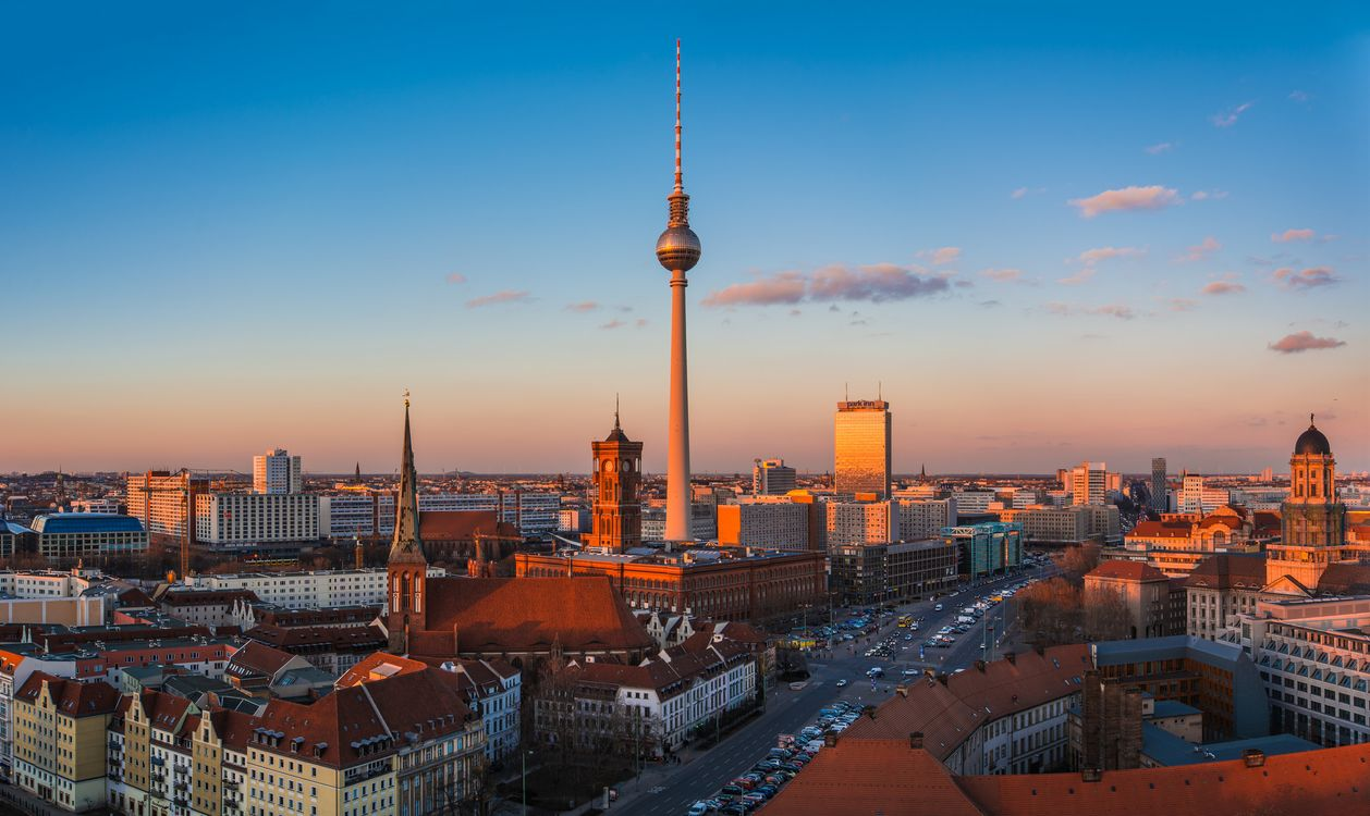 Фото бесплатно berlin, Берлин, столица, deutschland, germany, Германия, город, панорама, огни, город