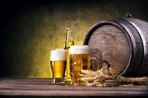 Бесплатные фото кружка,пиво,бочка,колосья,напиток