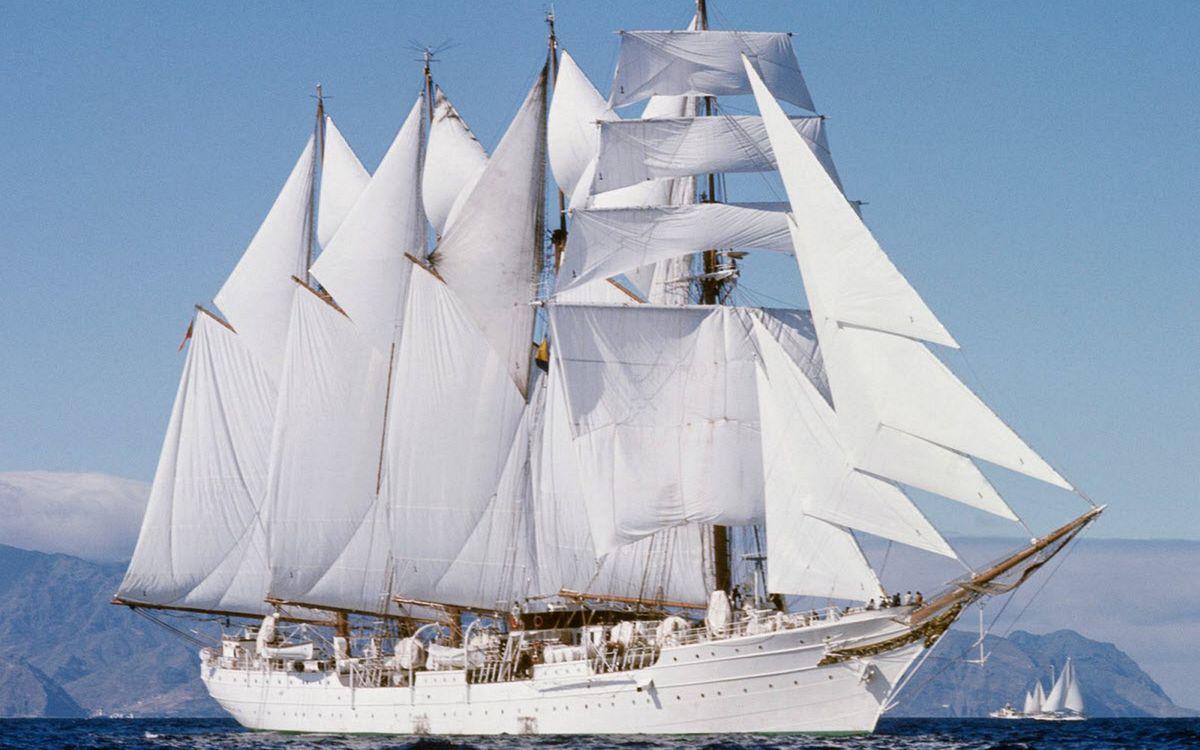 Фото бесплатно корабль, белый, мачты - на рабочий стол