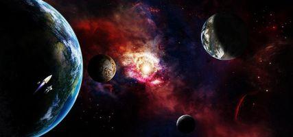 Бесплатные фото космос,планеты,вселенная,галактика