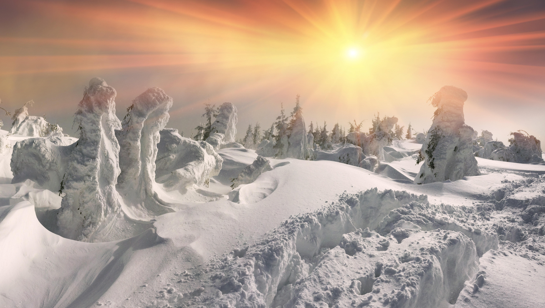 снег на фотографии