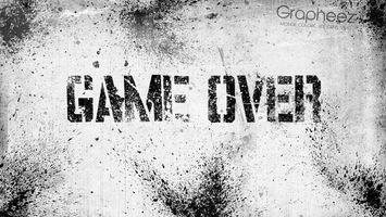 Фото бесплатно game over, надпись, текстура