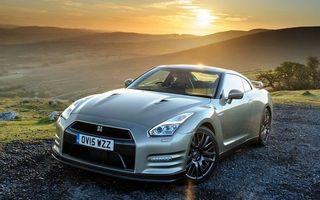 Бесплатные фото Nissan GT-R,ниссан,серебристый,горная местность,закат солнца