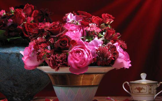 Фото бесплатно вазы, букеты, композиции
