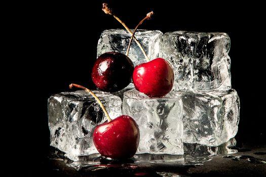 Cherry Ice, черешня, ягоды, лёд