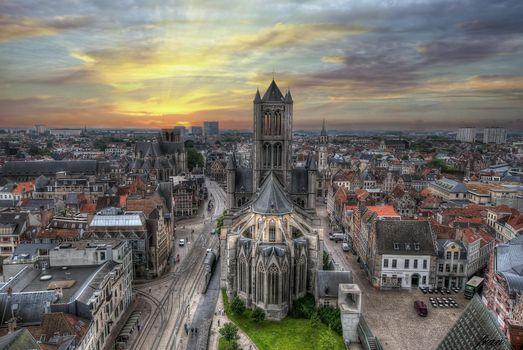 Фото бесплатно Gent, Изображение взято из звонницы Бельфор, Гент