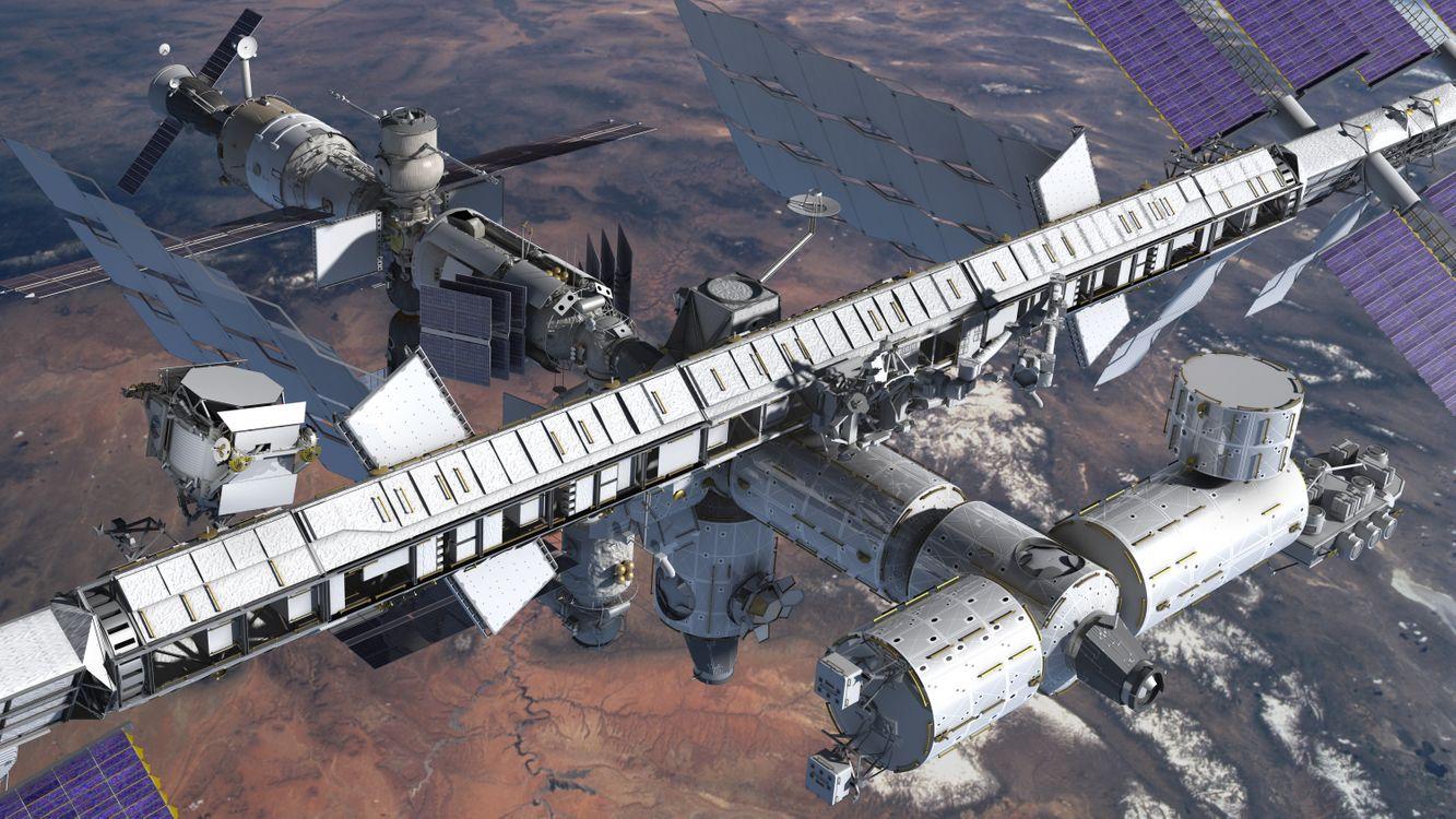 Фото бесплатно МКС, космос, Земля - на рабочий стол