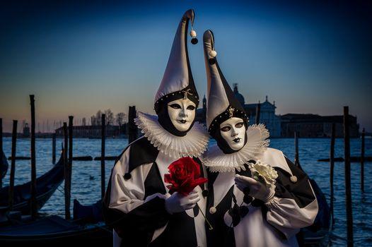 Фото бесплатно Венецианский наряд, венецианская маска, италия
