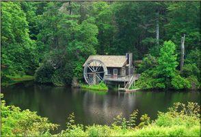 Бесплатные фото North Carolina,Grist Mill,Jewel Lake,Jackson County,река,лес,деревья