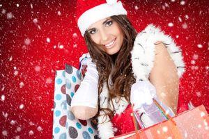 Фото бесплатно красивый макияж, новый год, снегурочка