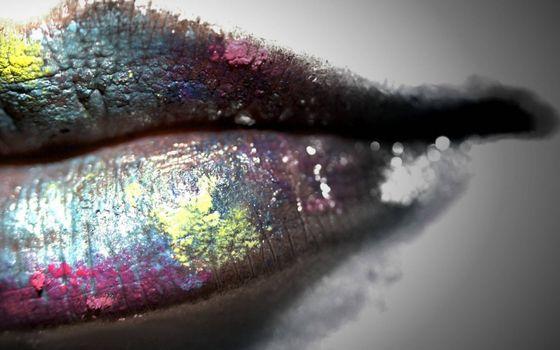 Фото бесплатно губы, макияж, помада