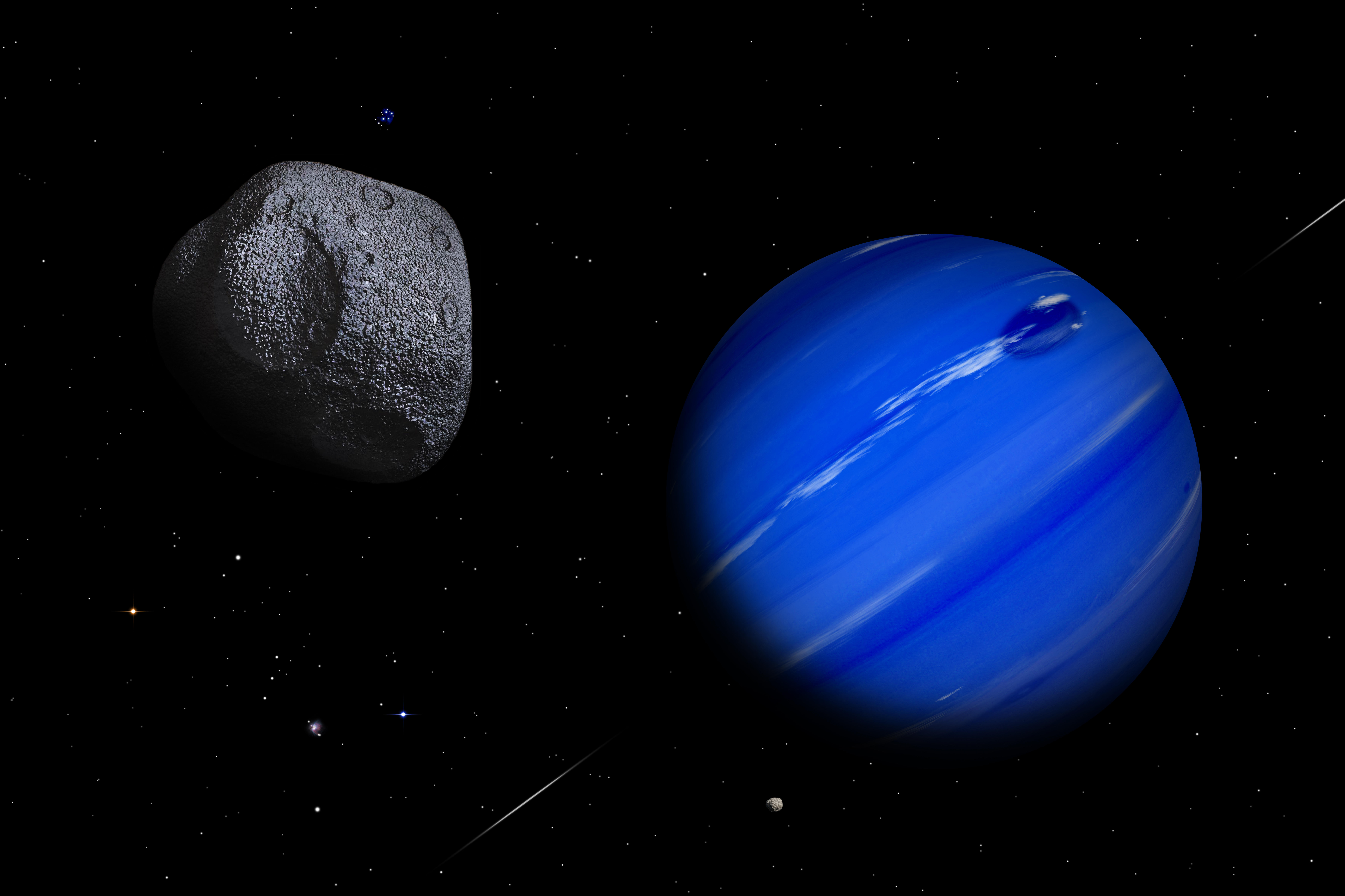 asteroid planets - HD 9000×6000