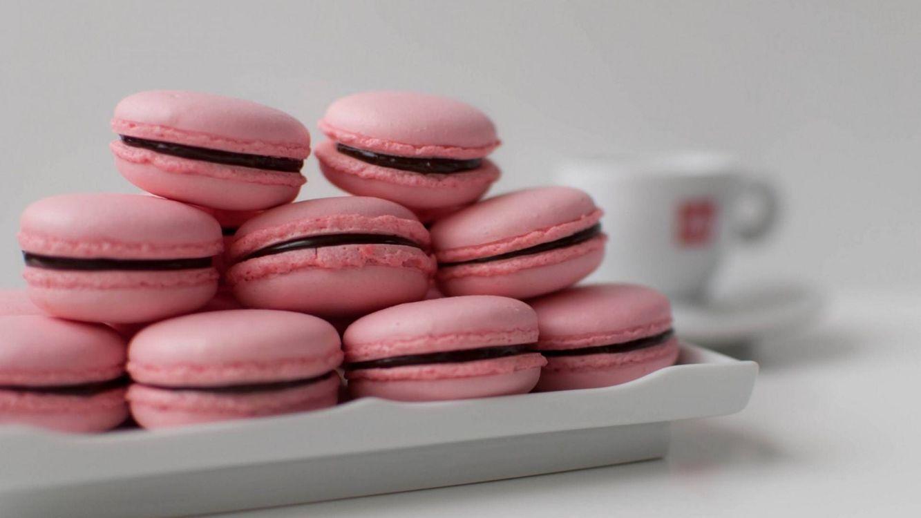 Фото бесплатно розовый, печенье, тарелка, еда