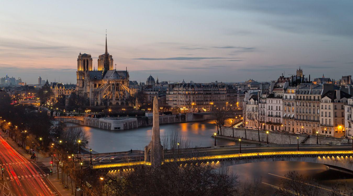 Фото бесплатно Собор Парижской Богоматери, Notre-Dame de Paris, Paris, France, Париж, Франция - на рабочий стол