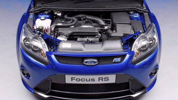 Бесплатные фото форд фокус,синий,фары,решетка,капот,двигатель