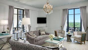 Фото бесплатно гостиной, светильник, шторы
