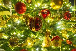 Photo free garlands, Christmas tree, illumination
