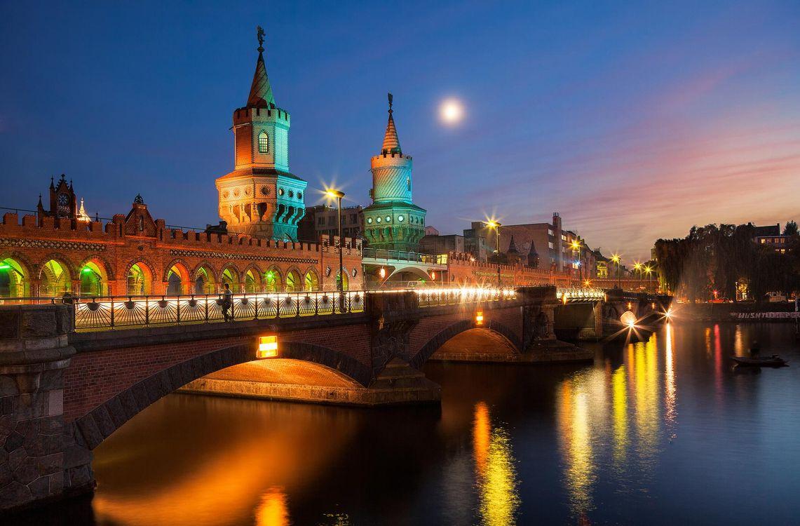 Фото бесплатно Oberbaum Bridge, Berlin, Берлин, Германия, город