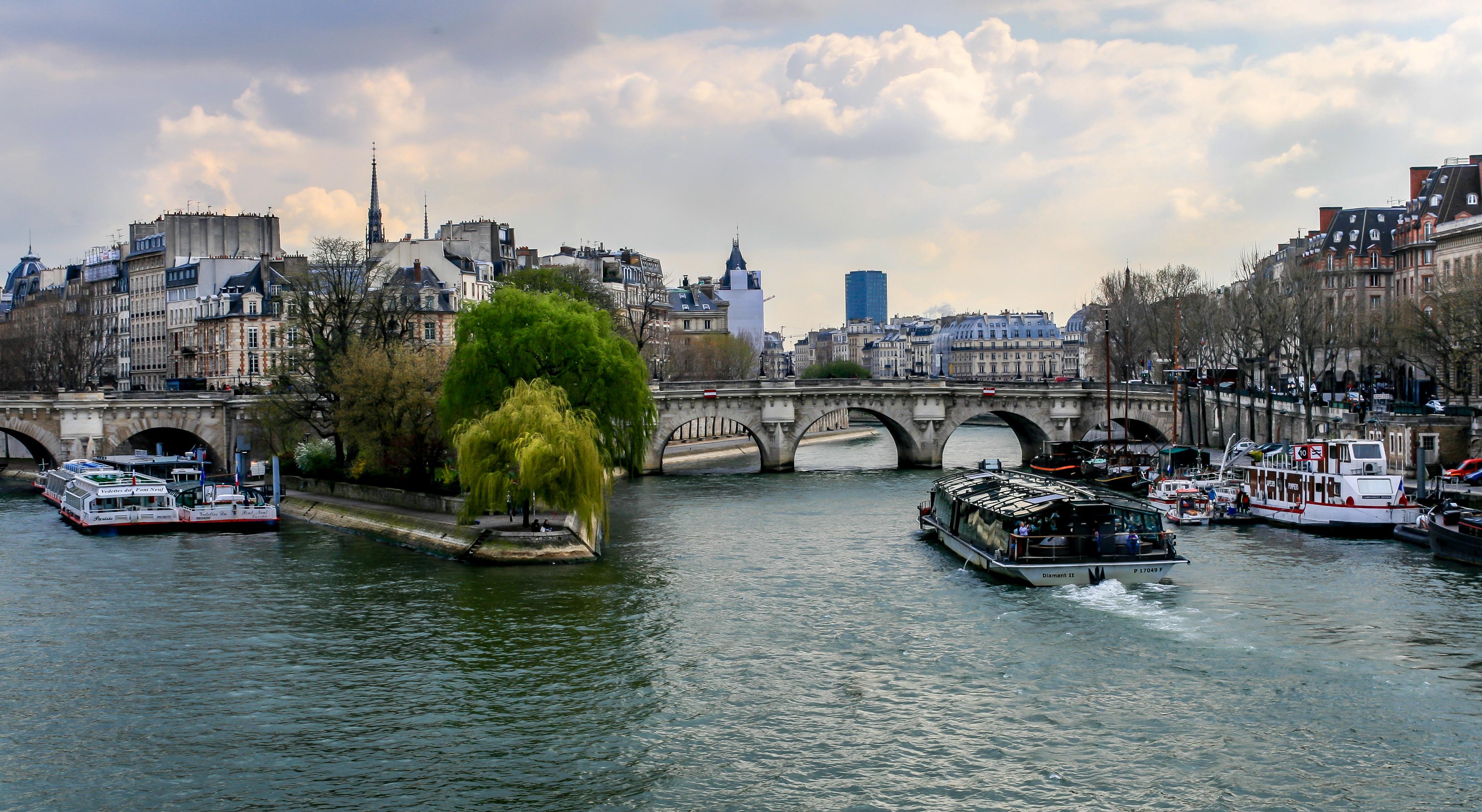 обои Река Сена, Париж, Франция картинки фото