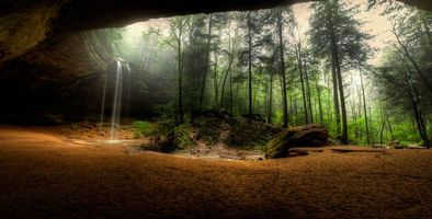 Бесплатные фото Hocking Hills State Park,Ohio,водопад,скалы,лес,деревья,природа