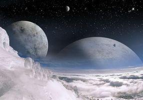 Фото бесплатно искусство, вселенная, созвездия