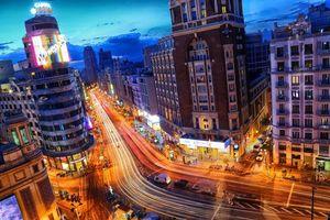 Заставки Мадрид, ночь, город