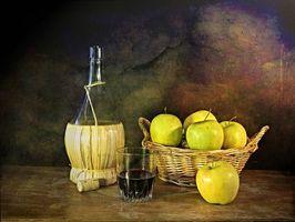 Бесплатные фото стол,вино,стакан,яблоки,фрукты,еда,напиток