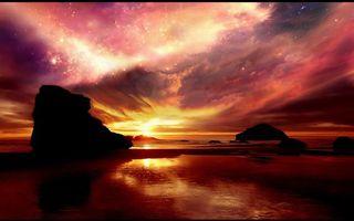 Фото бесплатно берег, море, островки